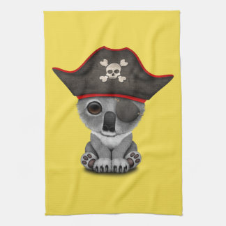 Cute Baby Koala Pirate Tea Towel