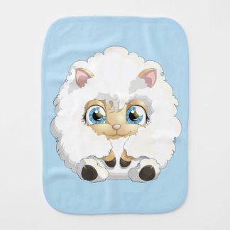 Cute Baby Lamb CHOOSE YOUR BACKGROUND COLOR Burp Cloth