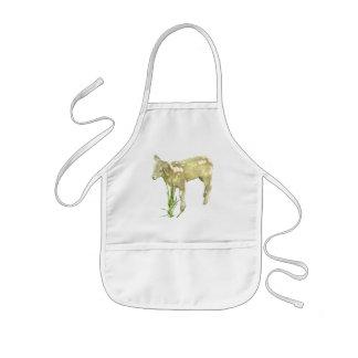 Cute Baby Lamb Eating Grass Kids Apron
