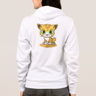 Cute baby leopard cartoon name woman's hoodie