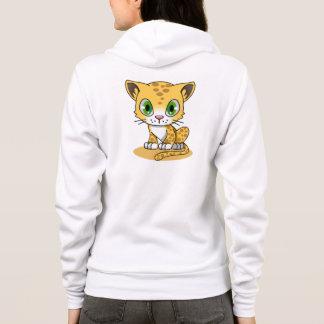 Cute baby leopard cartoon name woman's hoodie