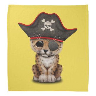 Cute Baby Leopard Cub Pirate Bandannas