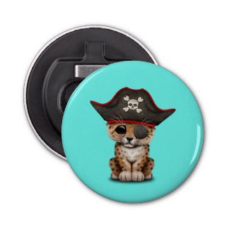 Cute Baby Leopard Cub Pirate Bottle Opener