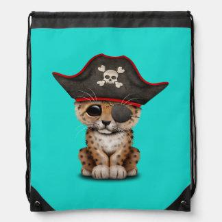 Cute Baby Leopard Cub Pirate Drawstring Bag