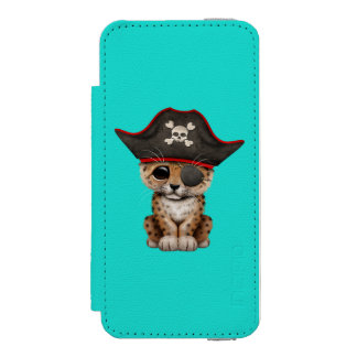 Cute Baby Leopard Cub Pirate Incipio Watson™ iPhone 5 Wallet Case