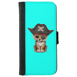 Cute Baby Leopard Cub Pirate iPhone 6 Wallet Case