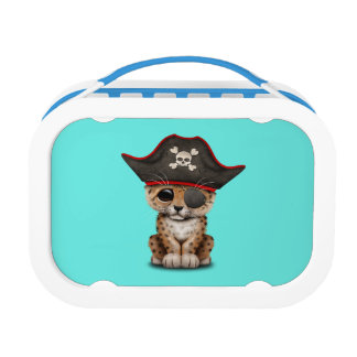 Cute Baby Leopard Cub Pirate Lunch Box