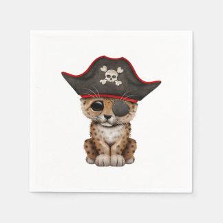 Cute Baby Leopard Cub Pirate Paper Napkins
