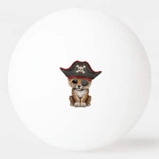 Cute Baby Leopard Cub Pirate Ping Pong Ball