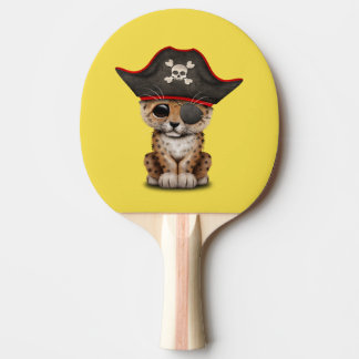 Cute Baby Leopard Cub Pirate Ping Pong Paddle