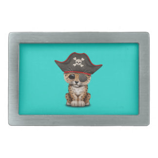 Cute Baby Leopard Cub Pirate Rectangular Belt Buckle