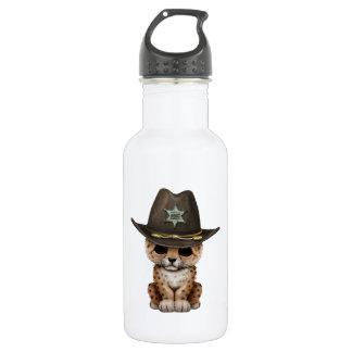 Cute Baby Leopard Cub Sheriff 532 Ml Water Bottle