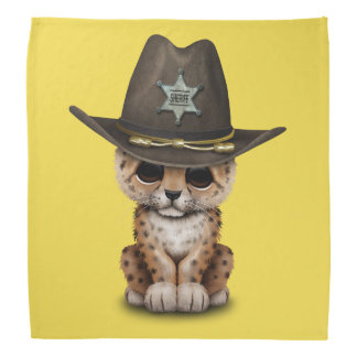 Cute Baby Leopard Cub Sheriff Bandana