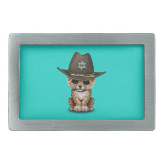 Cute Baby Leopard Cub Sheriff Belt Buckle