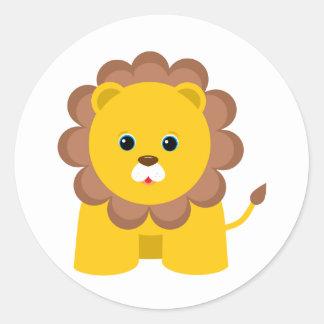 Cute Baby Lion Classic Round Sticker