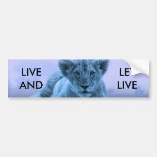 Cute baby lion cub bumper sticker
