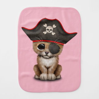 Cute Baby Lion Cub Pirate Burp Cloth