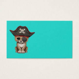 Cute Baby Lion Cub Pirate Business Card