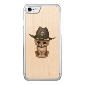 Cute Baby Lion Cub Sheriff Carved iPhone 8/7 Case