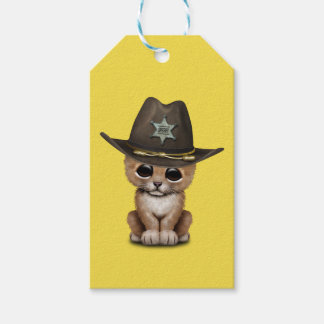 Cute Baby Lion Cub Sheriff Gift Tags
