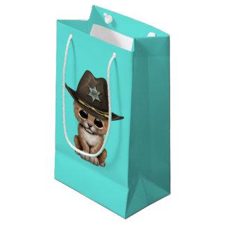 Cute Baby Lion Cub Sheriff Small Gift Bag