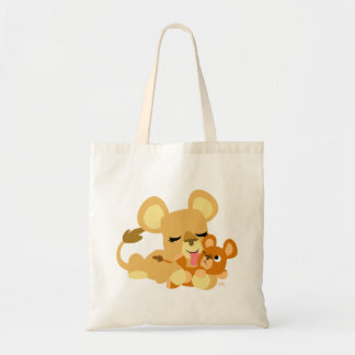 Cute Baby Lion's Bath Tote Bag