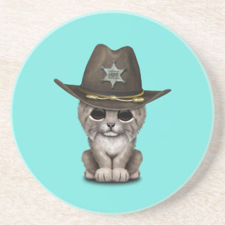 Cute Baby Lynx Cub Sheriff Coaster