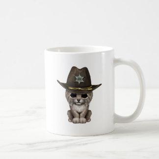 Cute Baby Lynx Cub Sheriff Coffee Mug