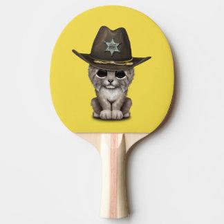 Cute Baby Lynx Cub Sheriff Ping Pong Paddle
