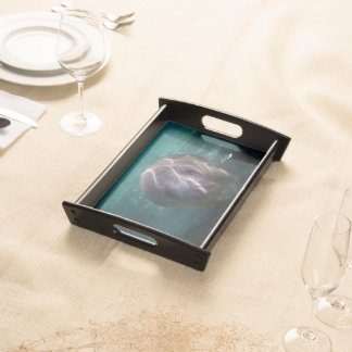 Cute baby manatee serving tray