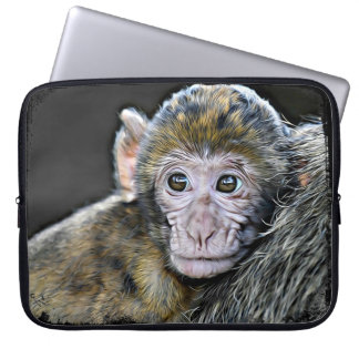 Cute Baby Monkey Face Computer Sleeve Case