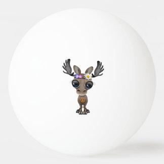 Cute Baby Moose Hippie Ping Pong Ball
