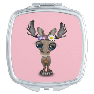 Cute Baby Moose Hippie Vanity Mirrors