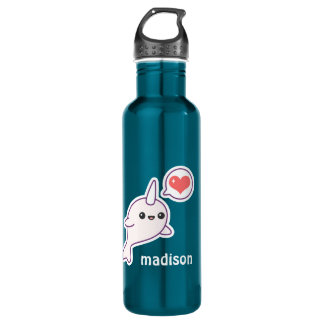 Cute Baby Narwhal 710 Ml Water Bottle