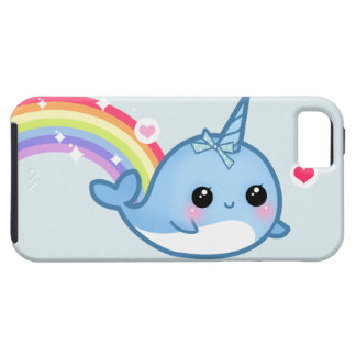 Cute baby narwhal and rainbow iPhone 5 case