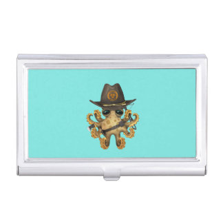 Cute Baby Octopus Zombie Hunter Business Card Holder