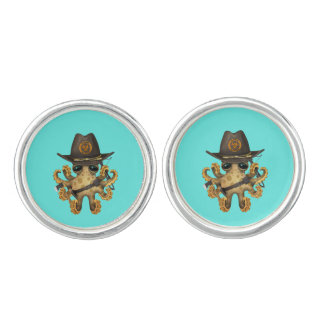 Cute Baby Octopus Zombie Hunter Cuff Links
