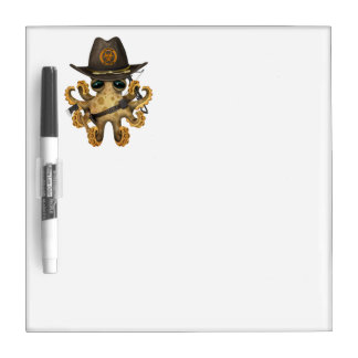 Cute Baby Octopus Zombie Hunter Dry Erase Board