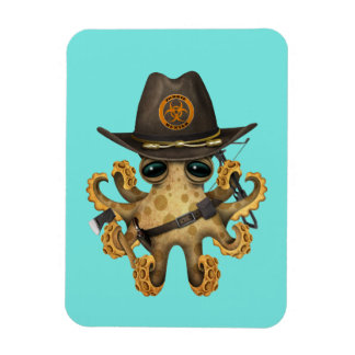 Cute Baby Octopus Zombie Hunter Magnet