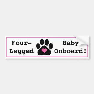 Cute Baby Onboard Animal Rescue Bumper Sticker