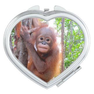 Cute Baby Orangutan Uttuh Mirror For Makeup