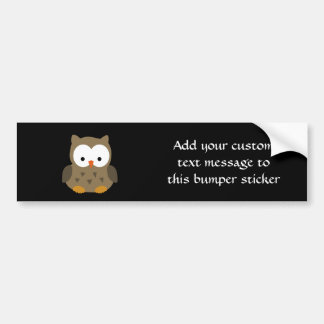 Cute Baby Owl Bumper Sticker