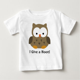 Cute Baby Owl Personalized Baby T-Shirt