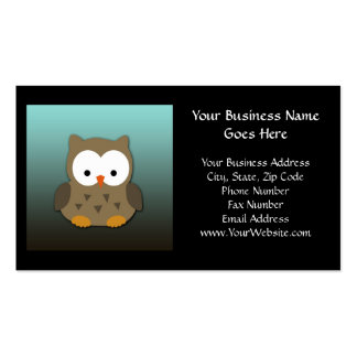 Cute Baby Owl Personalized Business Card Template