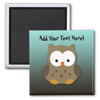 Cute Baby Owl Personalized Fridge Magnets
