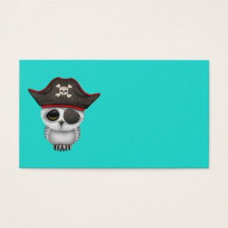 Cute Baby Owl Pirate Business Card