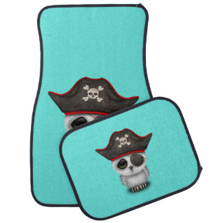 Cute Baby Owl Pirate Car Mat