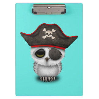 Cute Baby Owl Pirate Clipboards