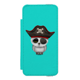 Cute Baby Owl Pirate Incipio Watson™ iPhone 5 Wallet Case