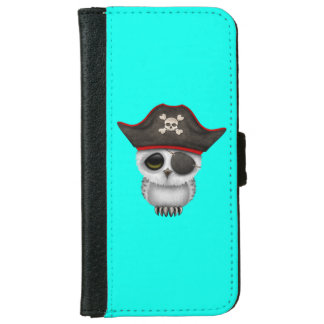 Cute Baby Owl Pirate iPhone 6 Wallet Case